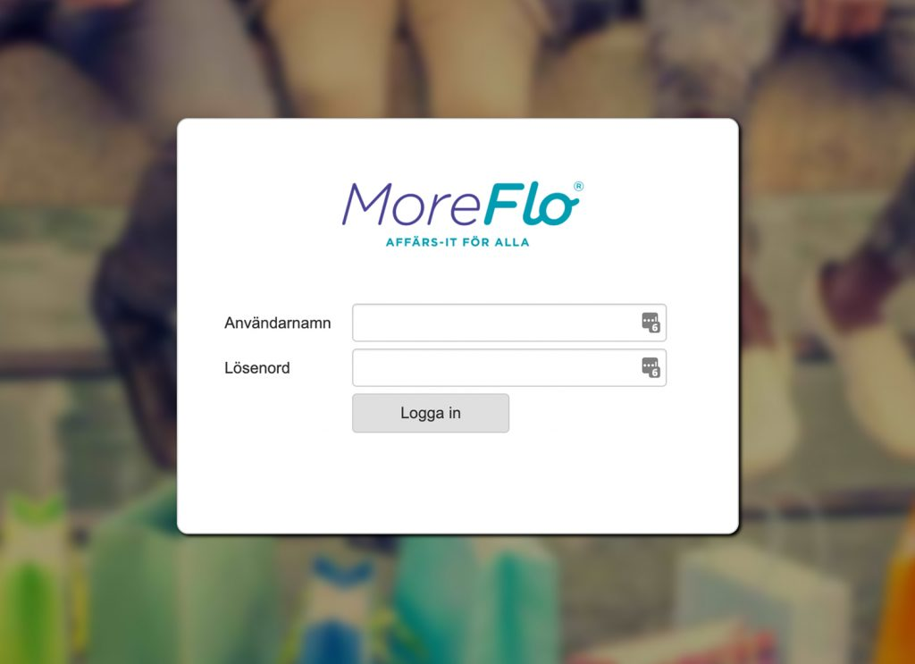 Inlogging i MoreFlo Apps
